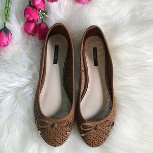 Forever 21 Shoes - Cognac Ballerina Flats